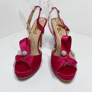 FSJ Slingback Stiletto High Heel Bowknots Sandals